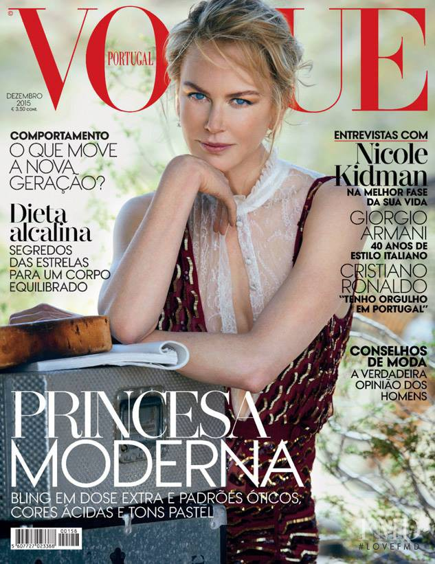 Nicole Kidman featured on the Vogue Portugal cover from December 2015