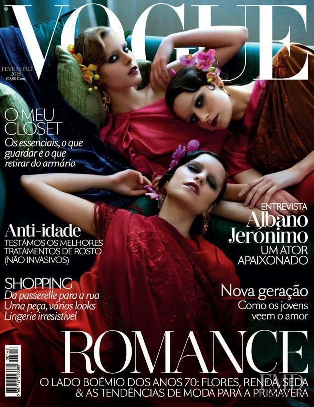 Sandra Martins, Marianne Bittencourt & Catarina Santos featured on the Vogue Portugal cover from February 2015