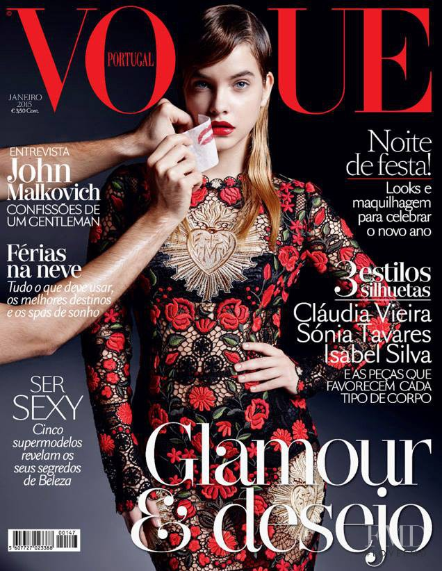 Barbara Palvin featured on the Vogue Portugal cover from January 2015