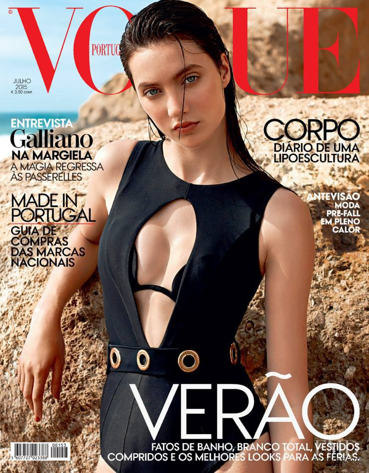 Matilda Lowther featured on the Vogue Portugal cover from July 2015