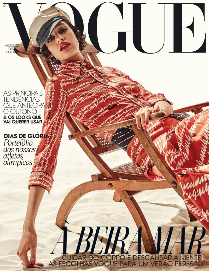 Damaris Goddrie featured on the Vogue Portugal cover from August 2016