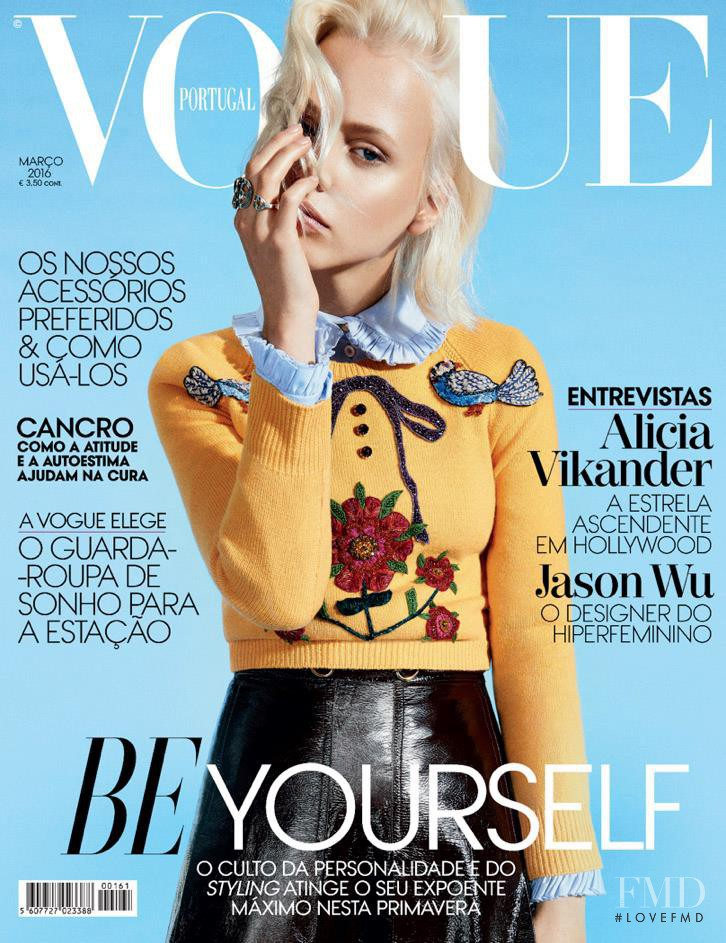Laura Mayerhoef  featured on the Vogue Portugal cover from March 2016