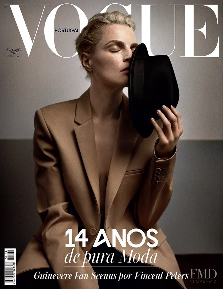 Guinevere van Seenus featured on the Vogue Portugal cover from November 2016