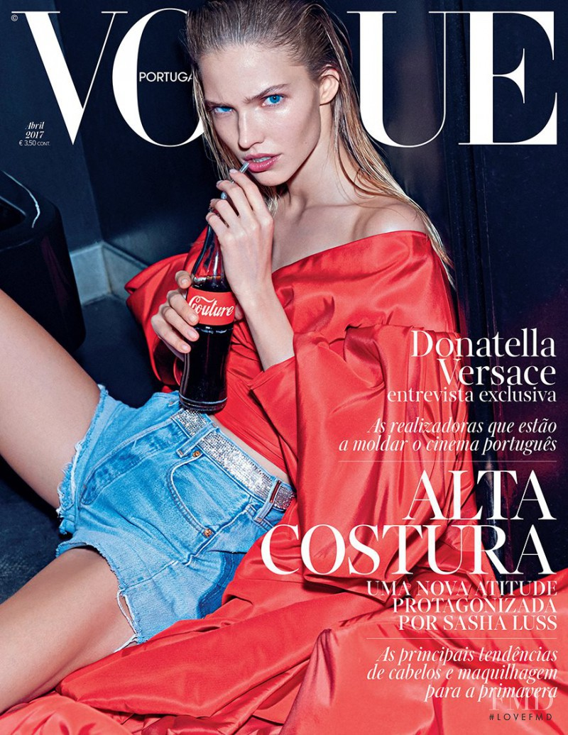 Sasha Luss featured on the Vogue Portugal cover from April 2017