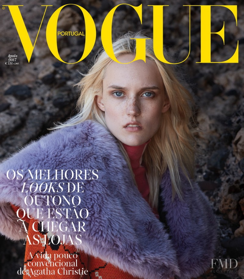 Harleth Kuusik featured on the Vogue Portugal cover from August 2017