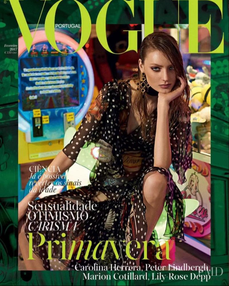 Susanne Knipper featured on the Vogue Portugal cover from February 2017