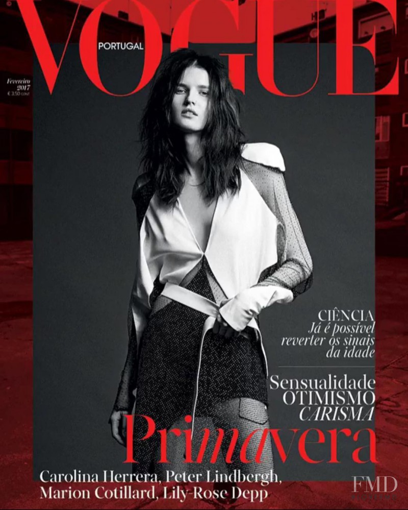 Katlin Aas featured on the Vogue Portugal cover from February 2017