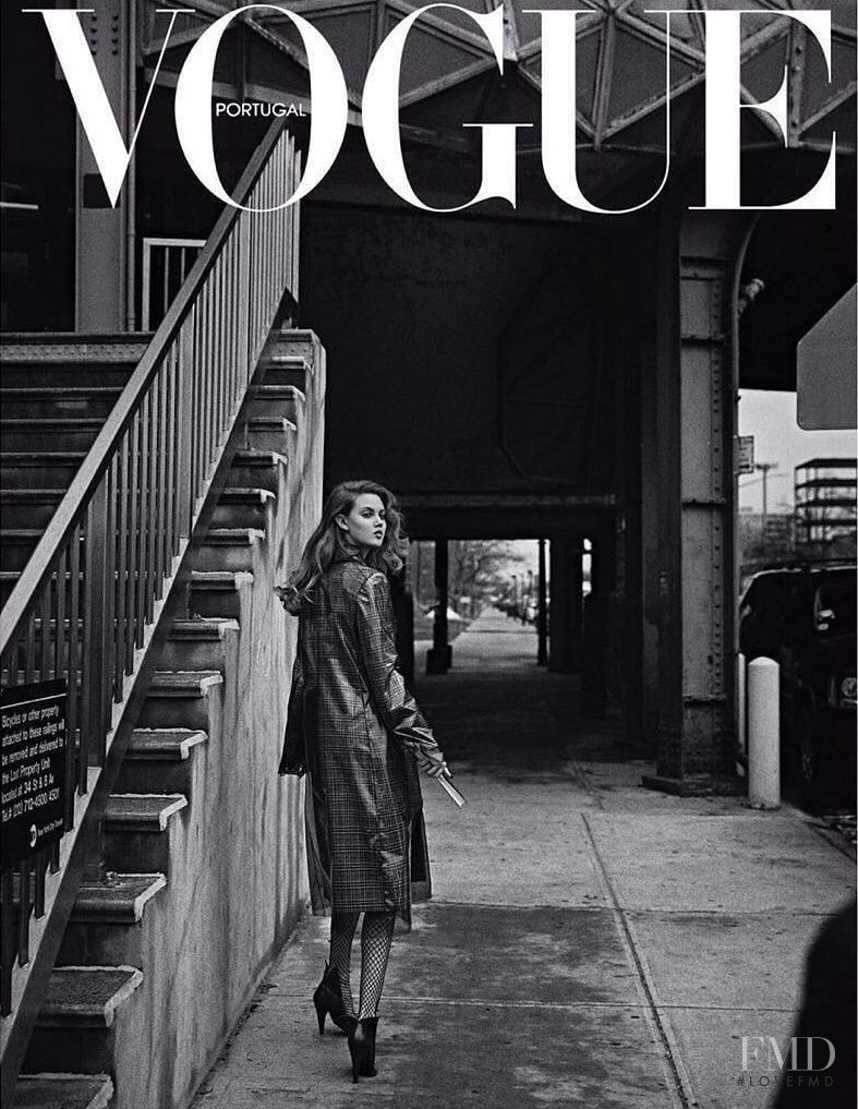 Lindsey Wixson featured on the Vogue Portugal cover from July 2017