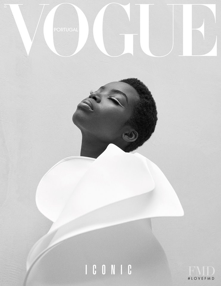 Maria Borges featured on the Vogue Portugal cover from October 2017