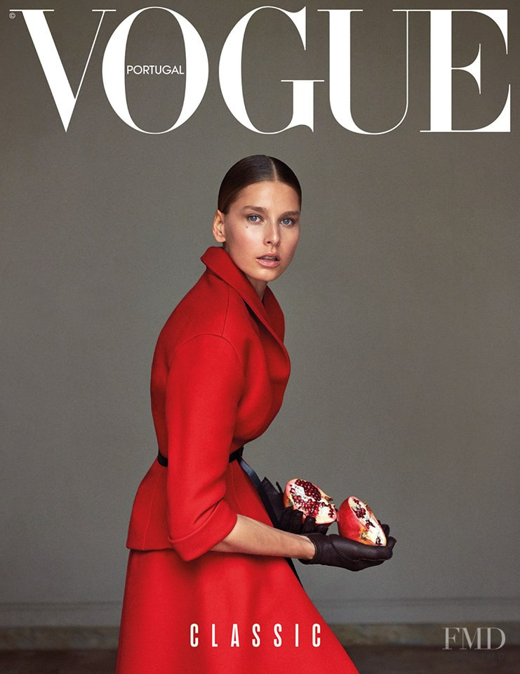 Hana Soukupova featured on the Vogue Portugal cover from October 2017