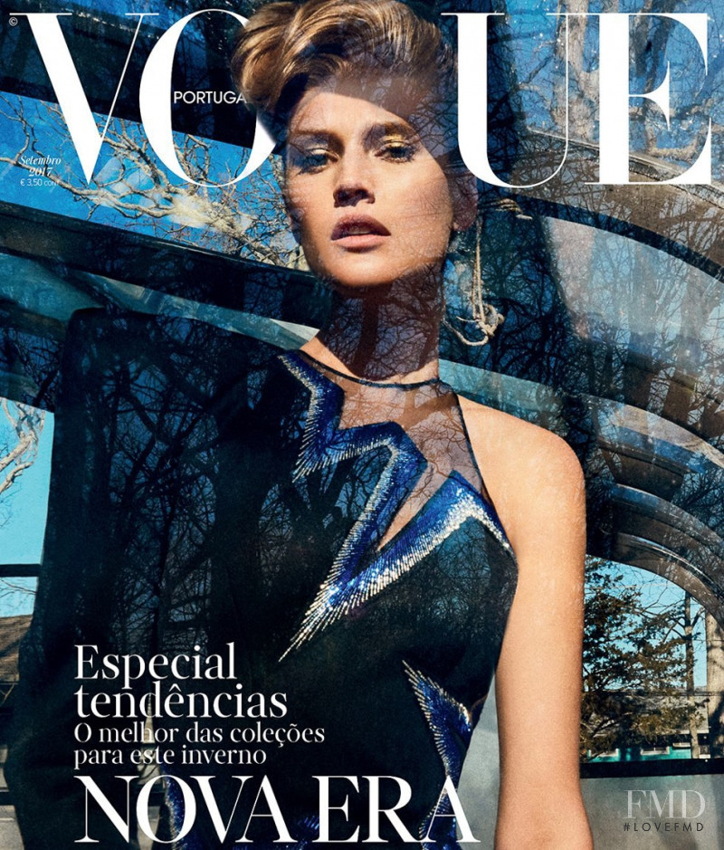 Toni Garrn featured on the Vogue Portugal cover from September 2017