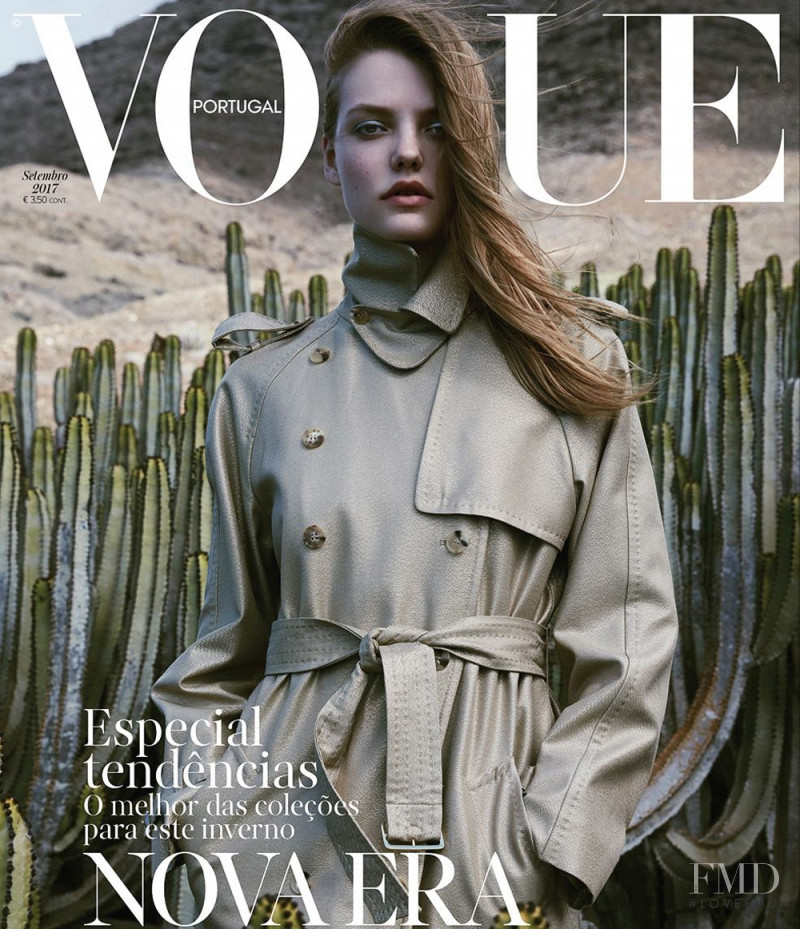 Roos Abels featured on the Vogue Portugal cover from September 2017