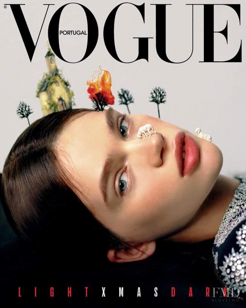 Stella Lucia featured on the Vogue Portugal cover from December 2018