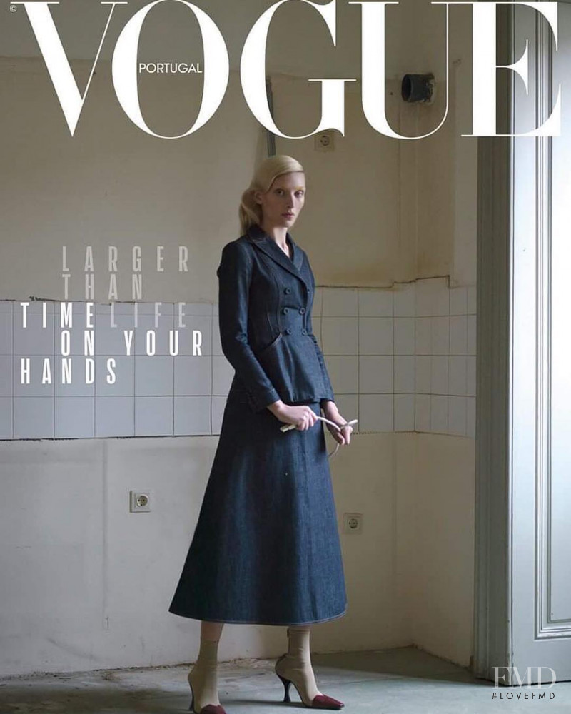 Maggie Maurer featured on the Vogue Portugal cover from February 2018