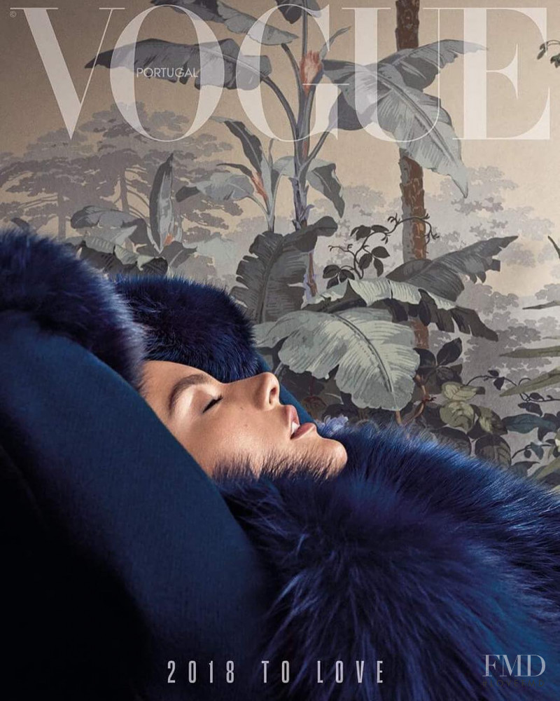 Alessandra Ambrosio featured on the Vogue Portugal cover from January 2018