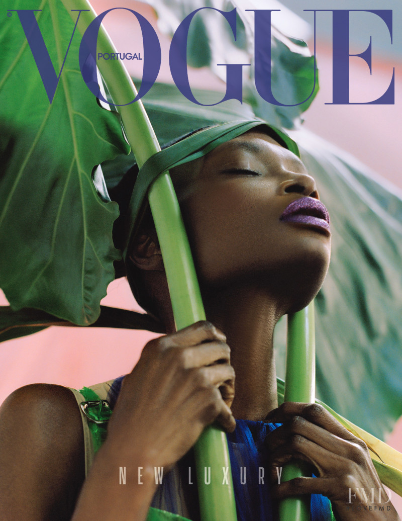 Debra Shaw featured on the Vogue Portugal cover from May 2018
