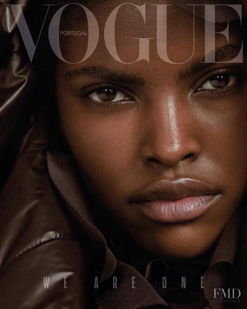 Amilna Estevão featured on the Vogue Portugal cover from November 2018