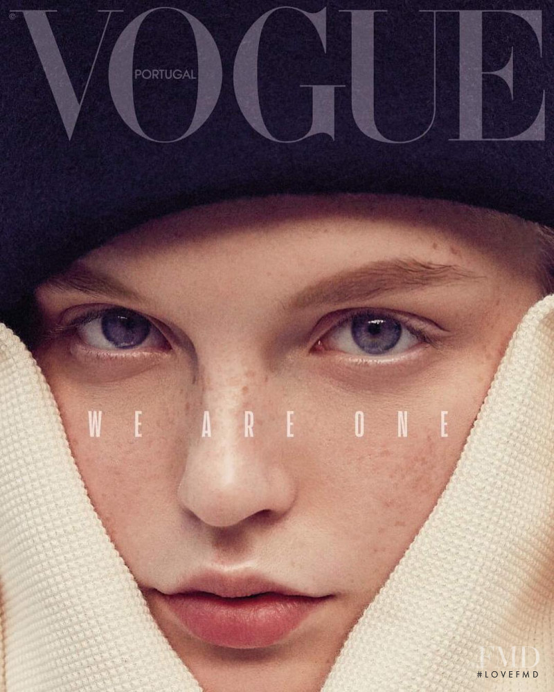 Weronika Kulas featured on the Vogue Portugal cover from November 2018
