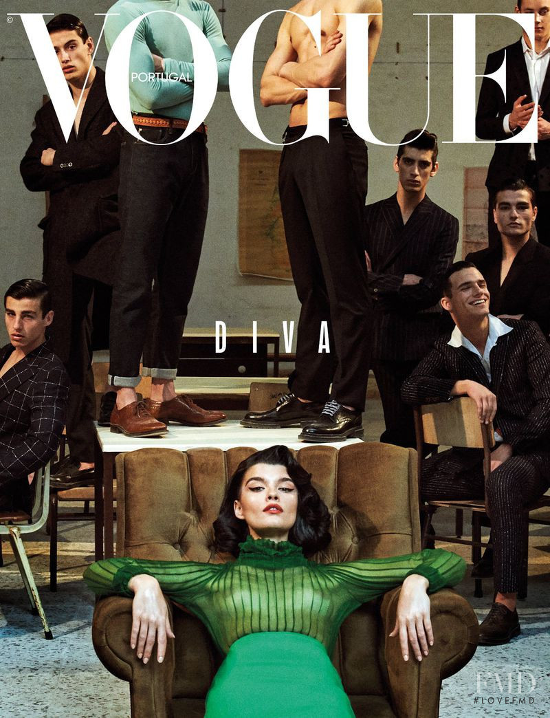 Crystal Renn featured on the Vogue Portugal cover from September 2018