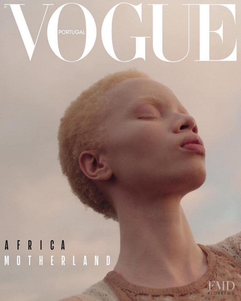 Thando Hopa featured on the Vogue Portugal cover from April 2019