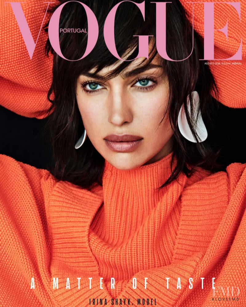 Irina Shayk featured on the Vogue Portugal cover from August 2019