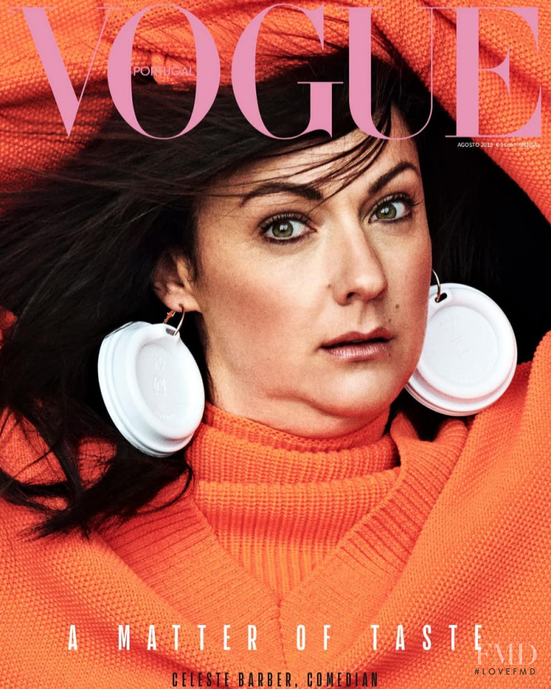 Celeste Barber featured on the Vogue Portugal cover from August 2019