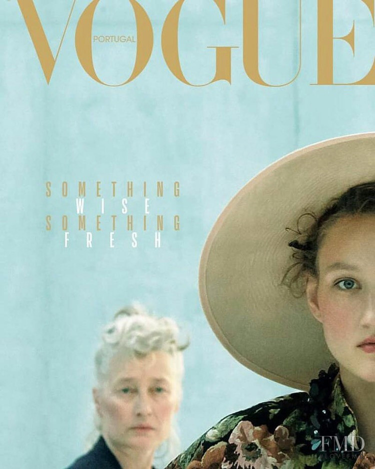 Marie Sophie Wilson-Carr featured on the Vogue Portugal cover from January 2019