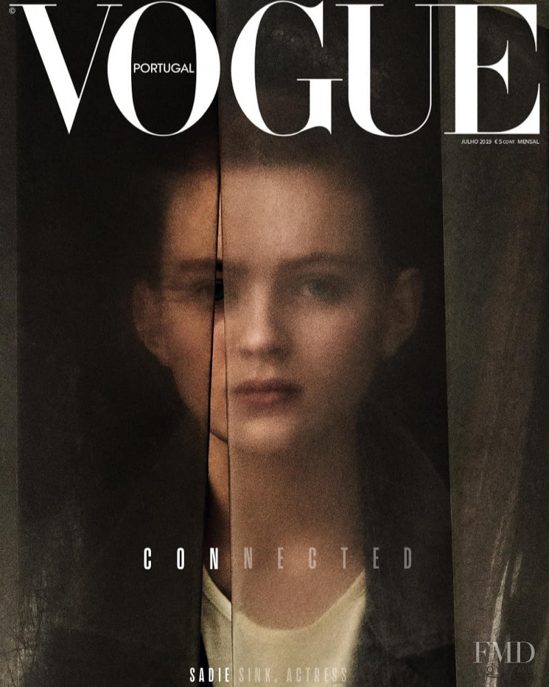 Sadie Sink featured on the Vogue Portugal cover from July 2019