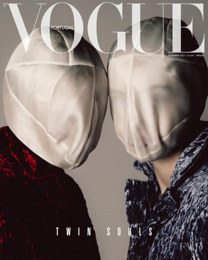 Caroline Reuter featured on the Vogue Portugal cover from November 2019