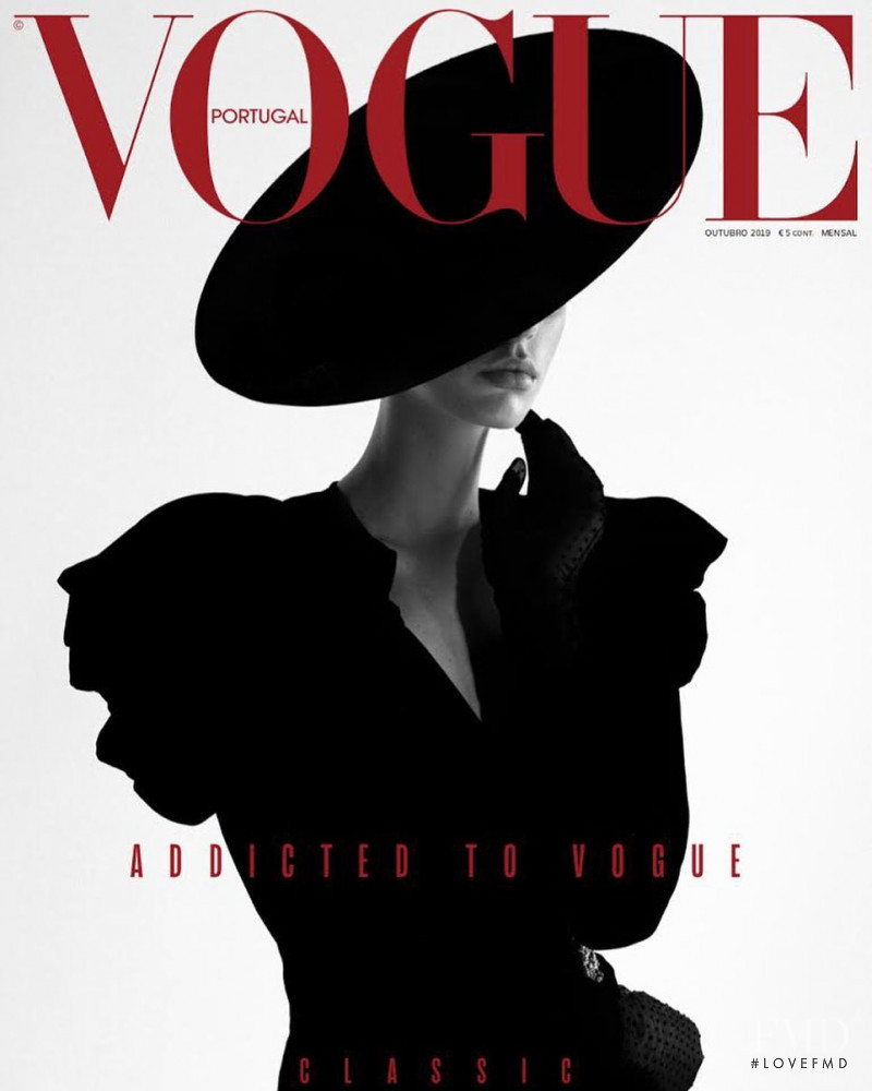 Jessie Bloemendaal featured on the Vogue Portugal cover from October 2019