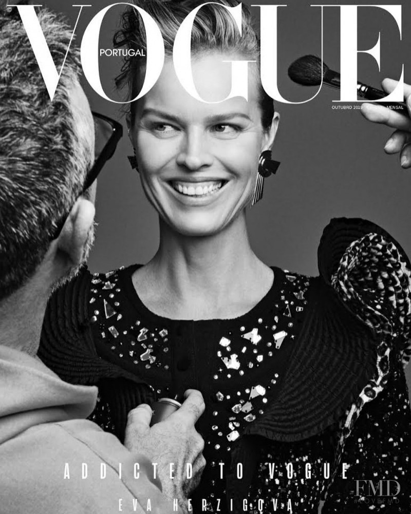 Eva Herzigova featured on the Vogue Portugal cover from October 2019