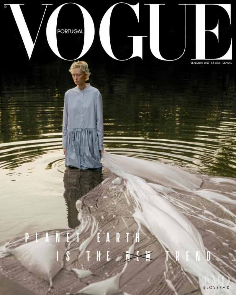Luca Aimee Kröger featured on the Vogue Portugal cover from September 2019
