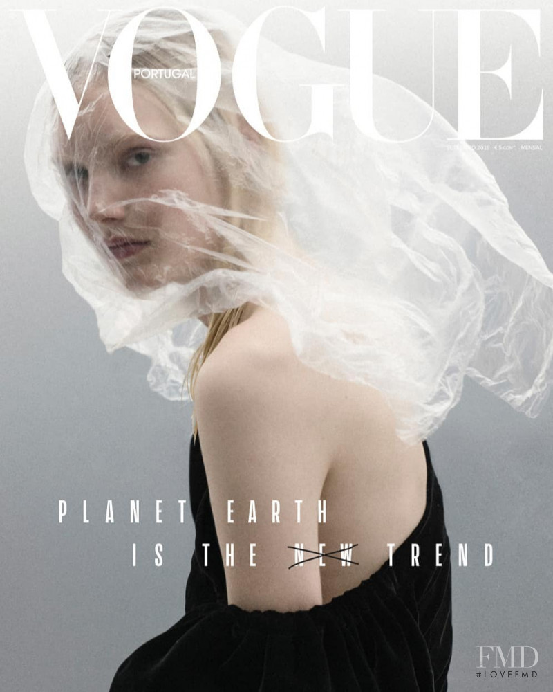 Nana Skovgaard Andersen featured on the Vogue Portugal cover from September 2019