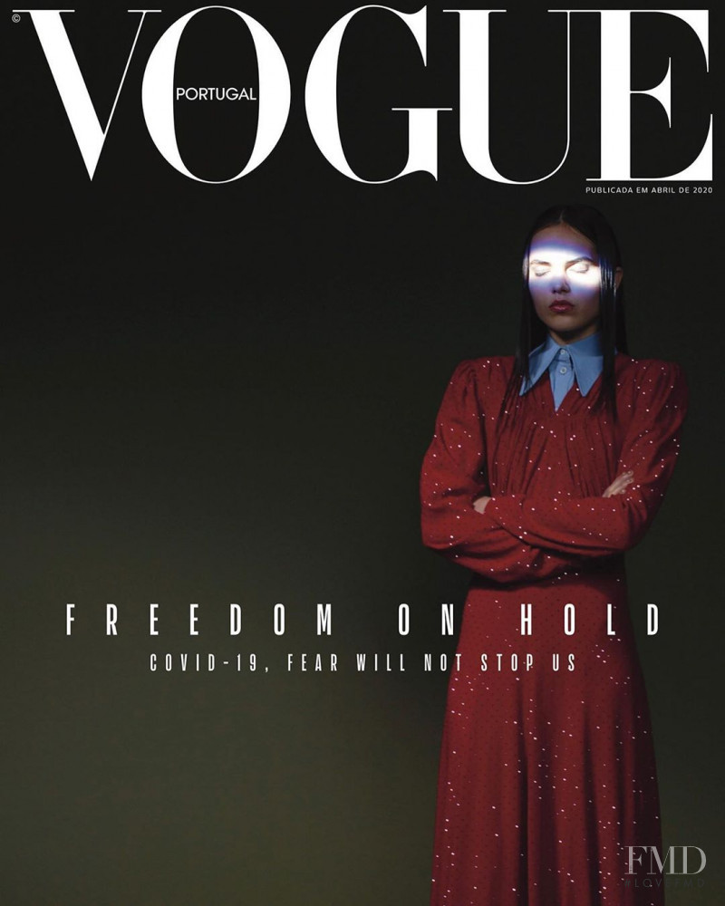 Lily Stewart featured on the Vogue Portugal cover from April 2020
