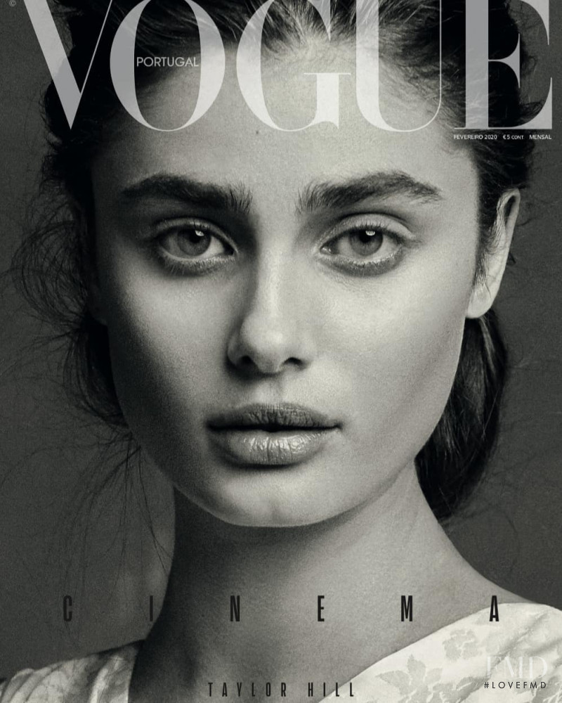 Taylor Hill featured on the Vogue Portugal cover from February 2020