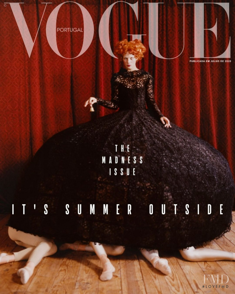 Marjan Jonkman featured on the Vogue Portugal cover from July 2020