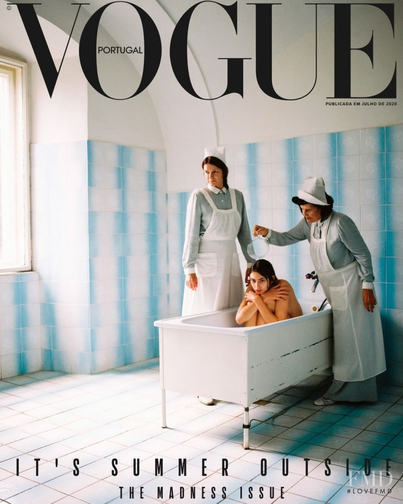 Simona Kirchnerova featured on the Vogue Portugal cover from July 2020