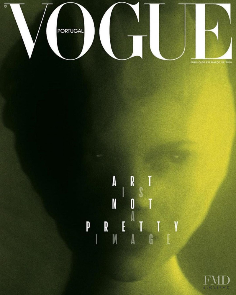 Ola Rudnicka featured on the Vogue Portugal cover from March 2020