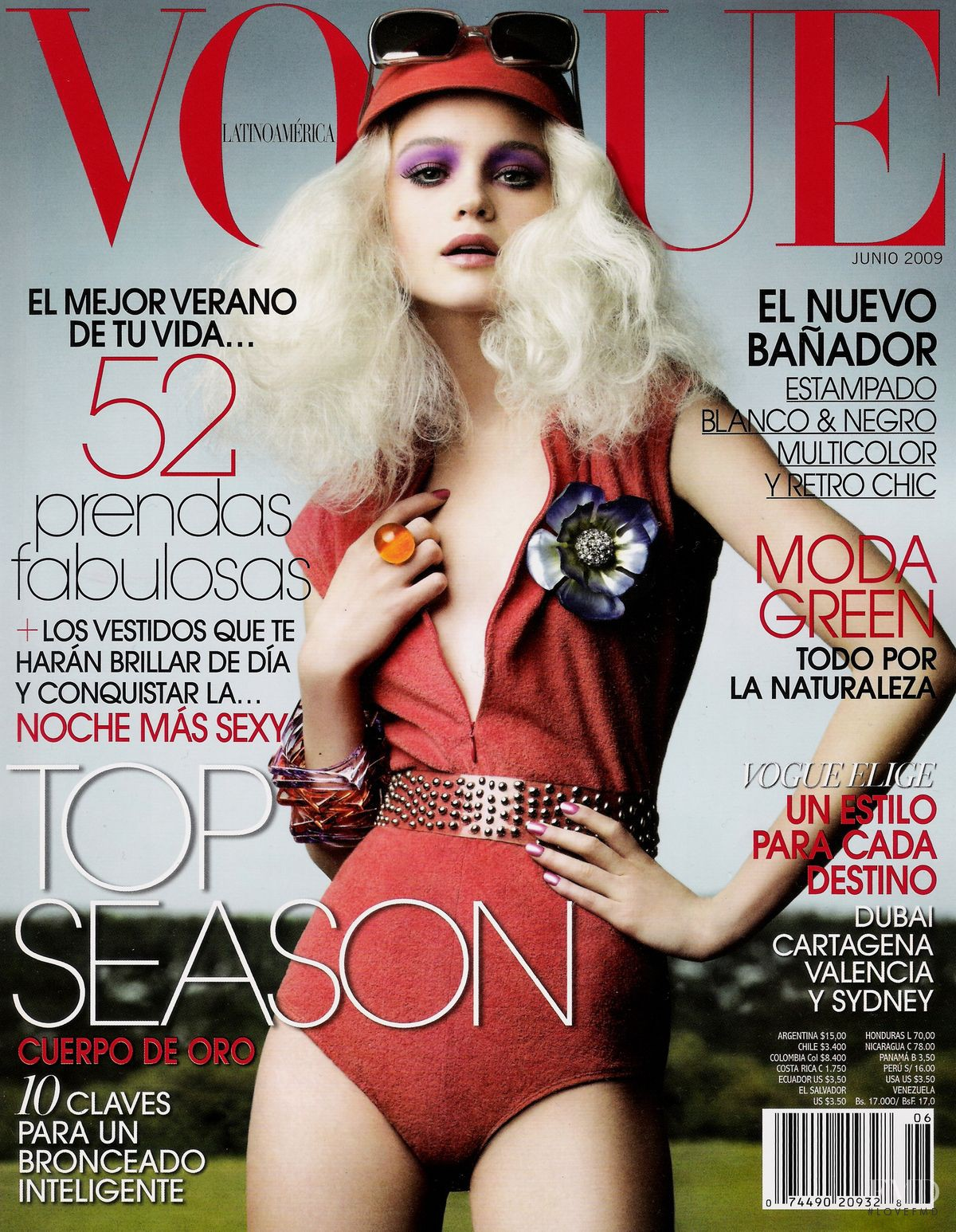 Cover Of Vogue Latin America With Rosie Tupper, June 2009