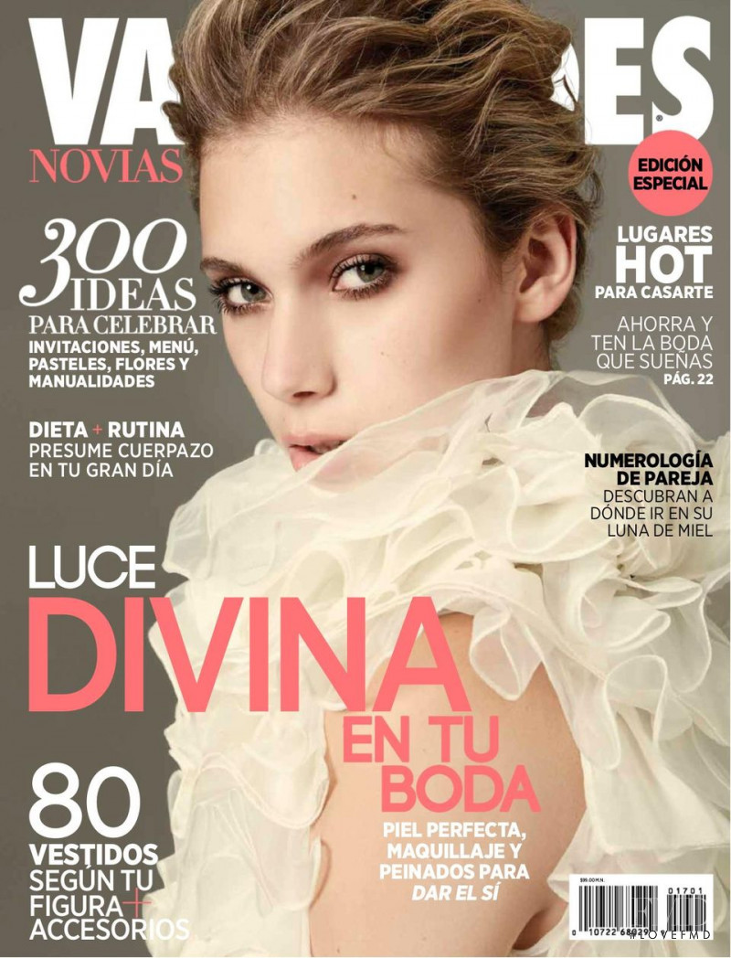 Corina Zanolli featured on the Vanidades Novias Mexico cover from October 2017