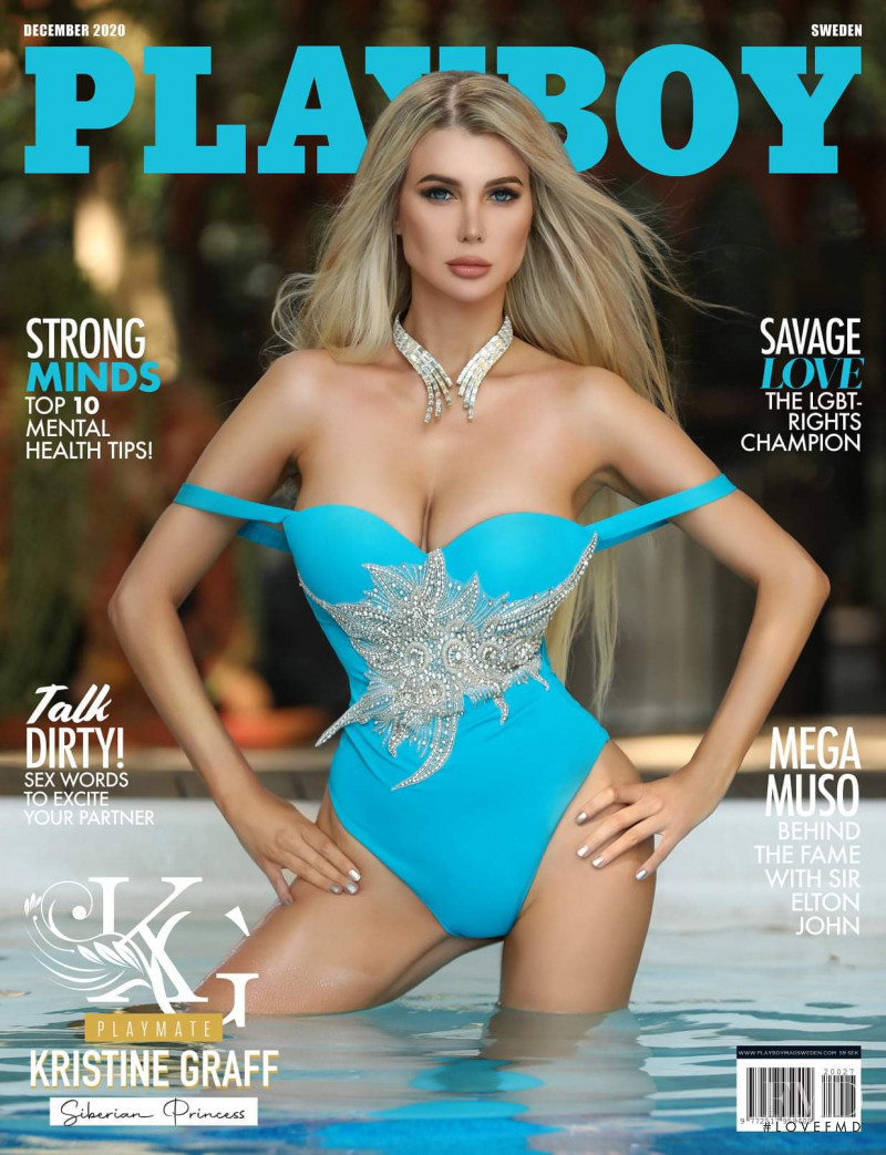 Kristine Graff featured on the Playboy Sweden cover from December 2020