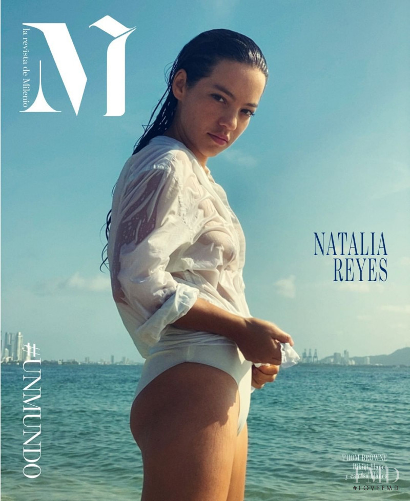 Natalia Reyes featured on the M Revista de Milenio cover from August 2020