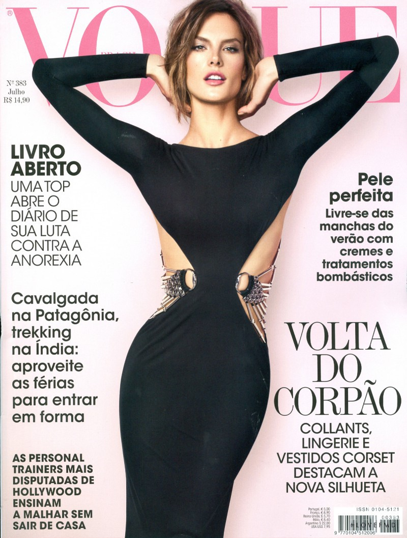 Alessandra Ambrosio featured on the Vogue Brazil cover from July 2010