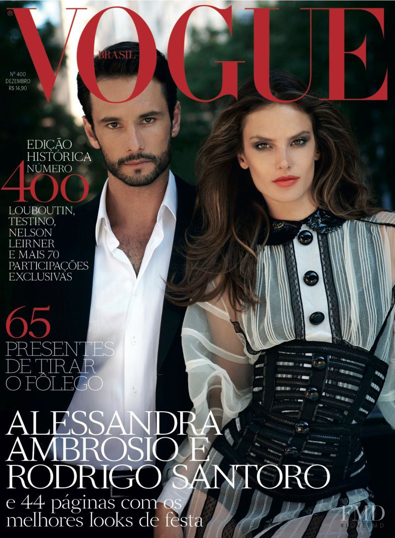 Alessandra Ambrosio featured on the Vogue Brazil cover from December 2011
