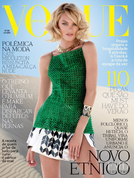 Candice Swanepoel featured on the Vogue Brazil cover from October 2011