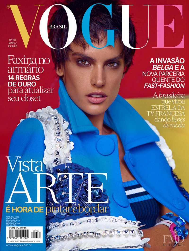 Alessandra Ambrosio featured on the Vogue Brazil cover from March 2014