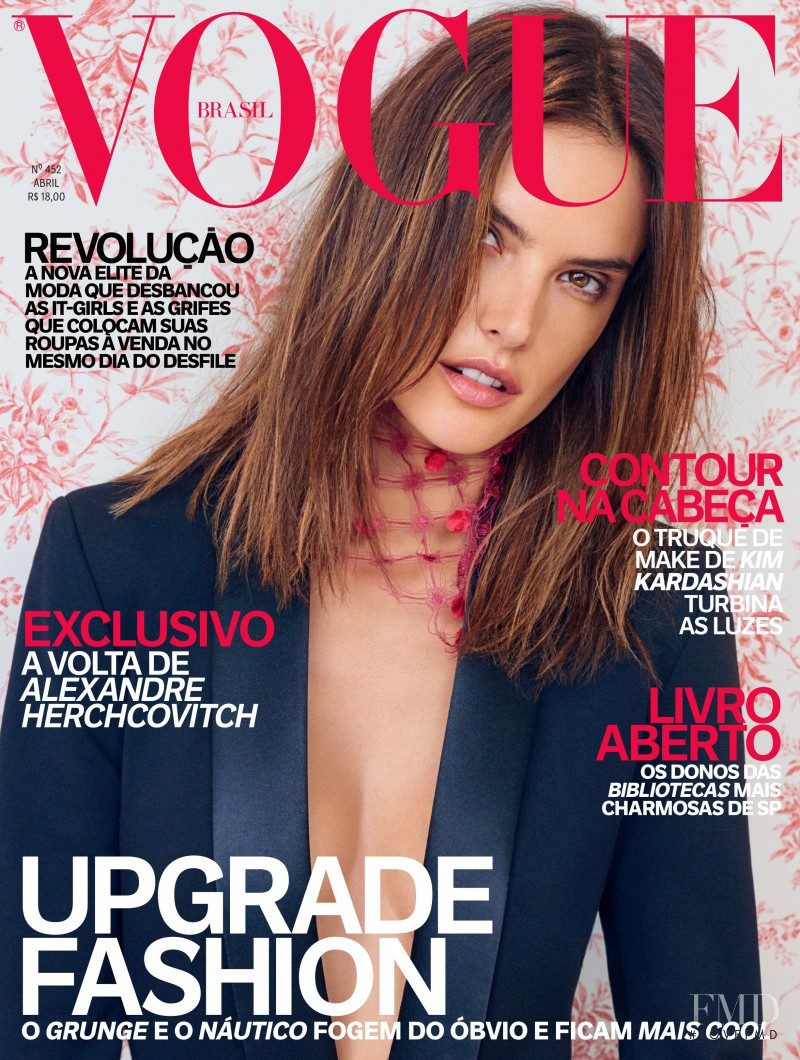 Alessandra Ambrosio featured on the Vogue Brazil cover from April 2016