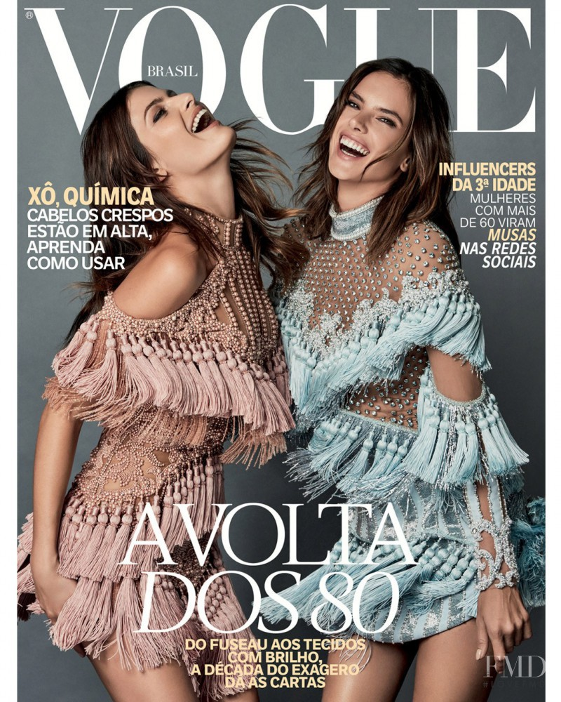 Isabeli Fontana, Alessandra Ambrosio featured on the Vogue Brazil cover from October 2016