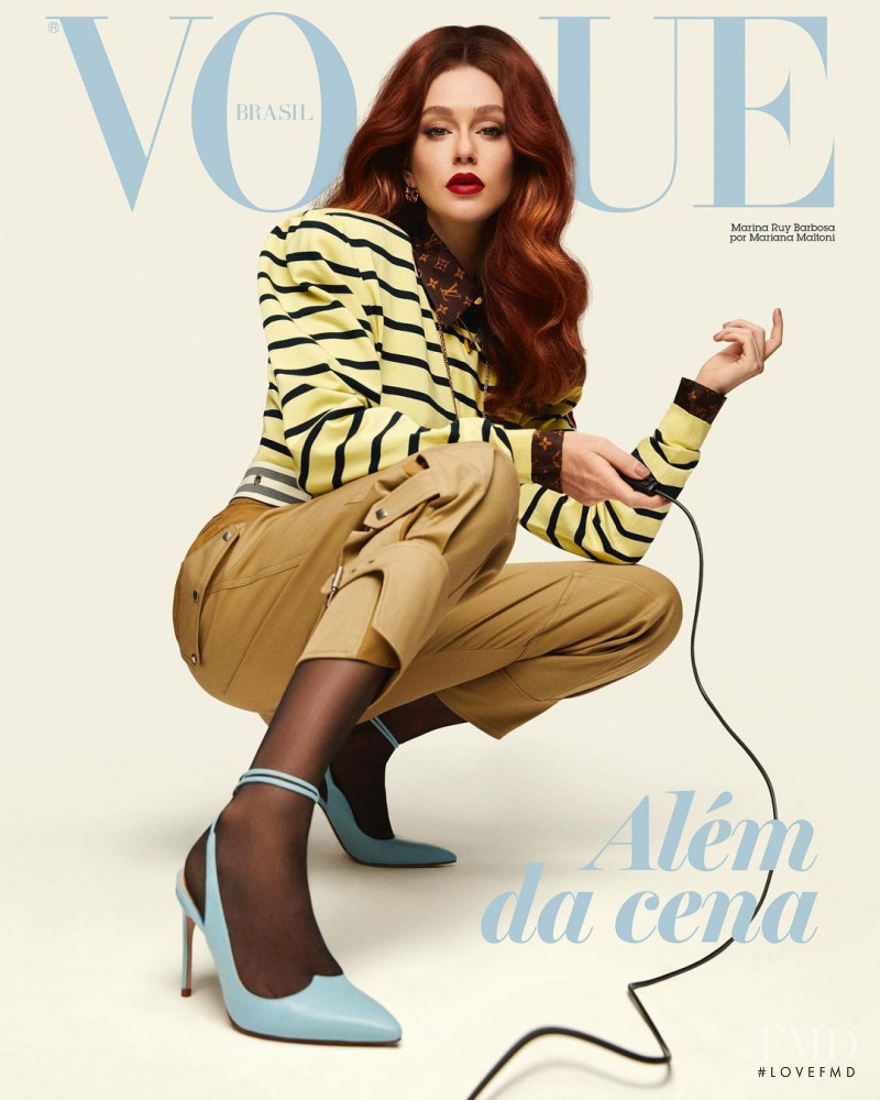 Marina Ruy Barbosa featured on the Vogue Brazil cover from December 2020