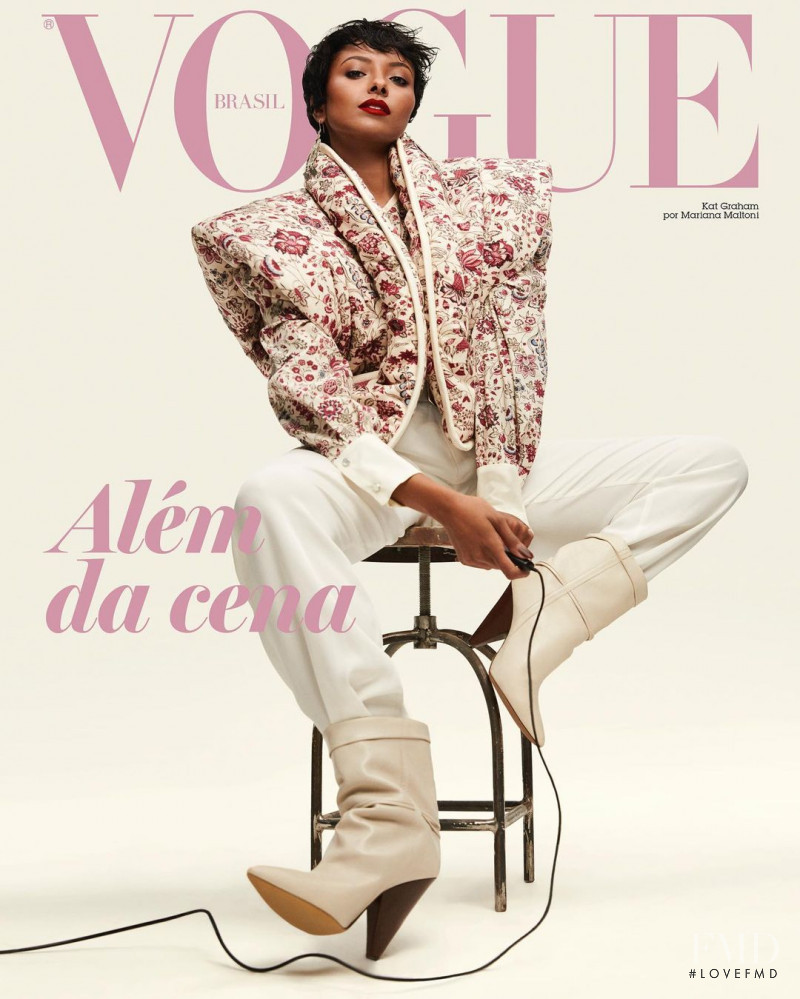 Kat Graham  featured on the Vogue Brazil cover from December 2020